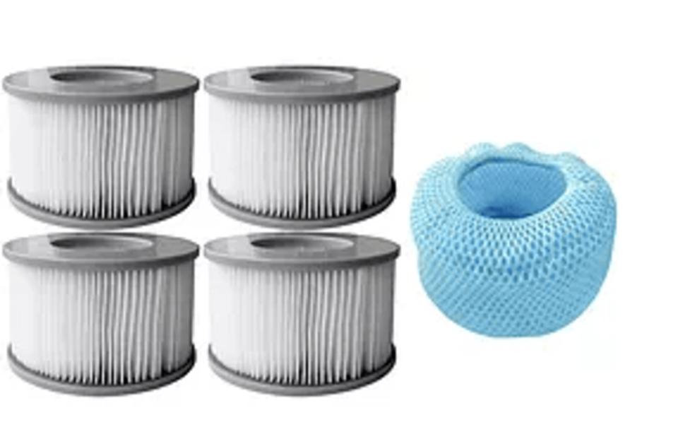 MSpa Whirlpool Filter - Filterkartuschen inkl. Netzabdeckung - 4er Set