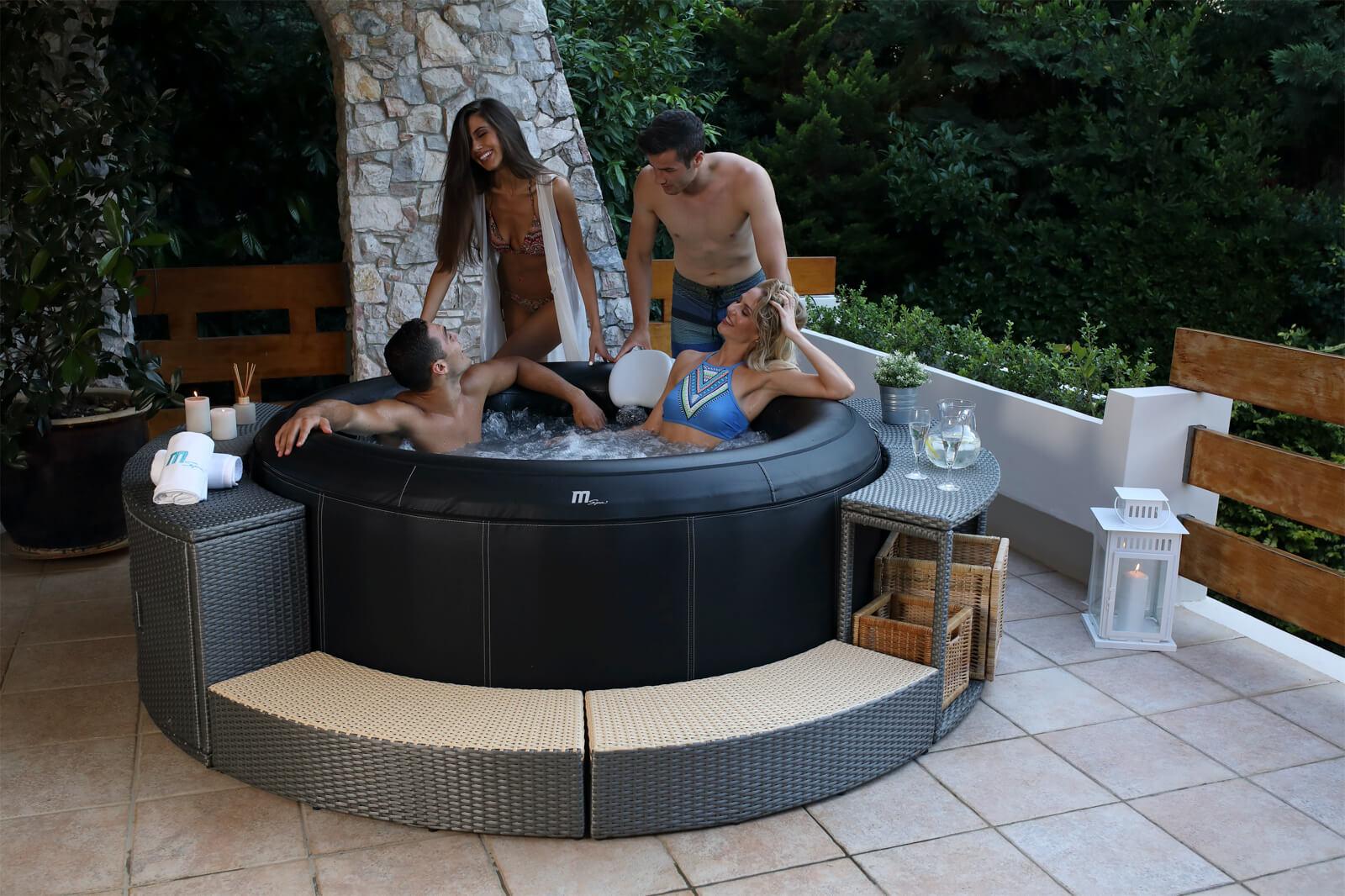 MSpa Premium 6 Personen Whirlpool Camaro P-CA069 Indoor + Outdoor Pool