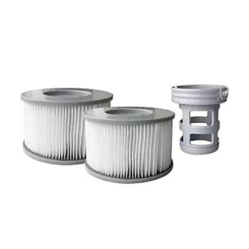 2x Ersatz-Wasserfilter-Kartusche + 1x  Adapter für MSpa Whirlpool