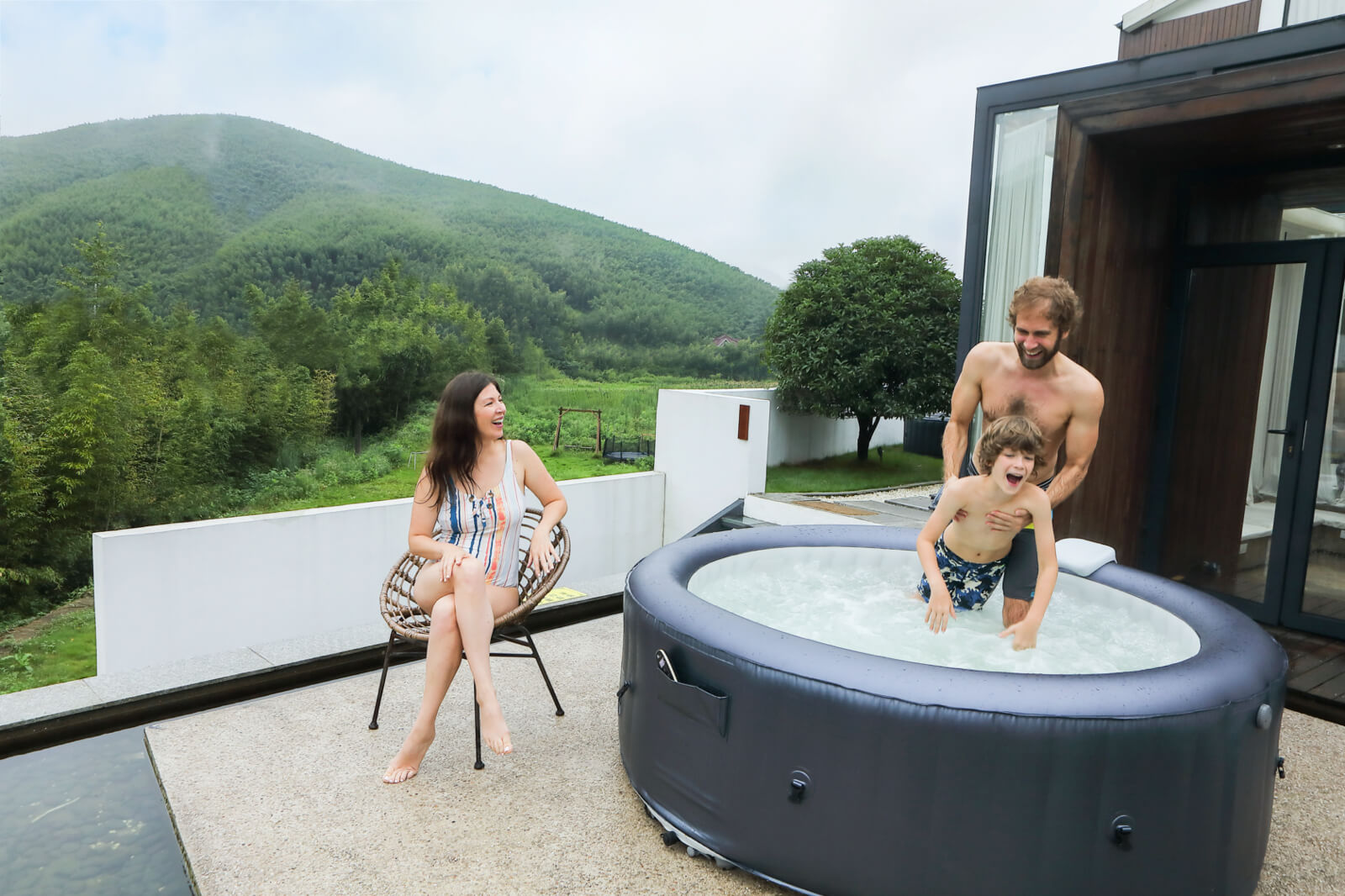 MSpa Muse 6 Personen Whirlpool Carlton M-CA061 Indoor + Outdoor Pool