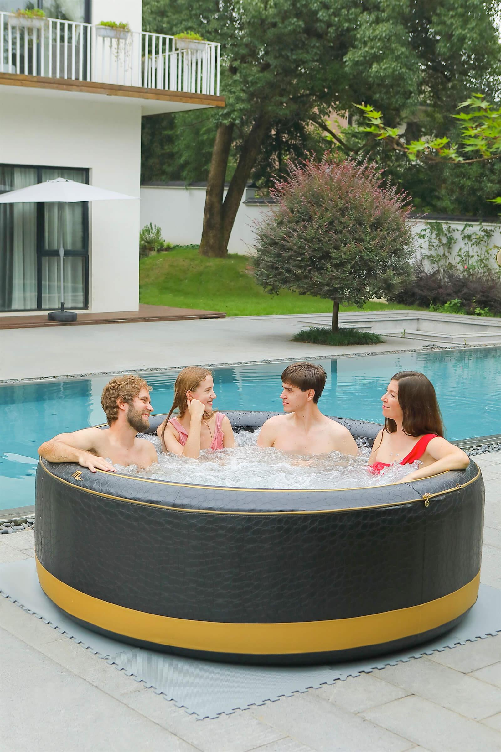 MSpa Premium 6 Personen Whirlpool Luxury Exotic P-EX069 Indoor + Outdoor Pool